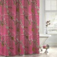 "Realtree AP Fuchsia (Hot Pink) Camo Shower Curtain 72"" x 72"""