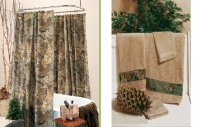 Realtree Advantage Camo Shower Curtain & Towel Set