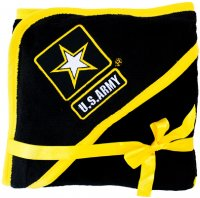 US Army Baby Soft Fleece Blanket with Embroidered Logo - Black