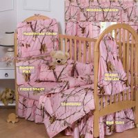 Realtree All Purpose Pink Camo 7 Piece Baby Crib Set