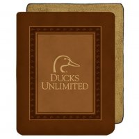 "Ducks Unlimited Logo Plush Throw Blanket 50"" W X 60"""