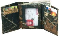 Premium Leather Mossy Oak Break Up Camo Tri-fold Wallet 200521