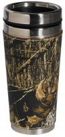 Weber's Mossy Oak Camo Leather 14 oz Travel Mug with No Handle