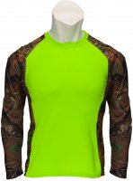 Womens Impulse 4-way Stretch Long Sleeve Tee Neon Green Camo