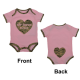 "Pink with ABU Trim USAF ""Air Force Cutie"" Baby Bodysuit"