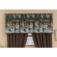 River Fishing Scene Window Valance