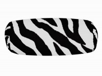 Black Zebra Stripe Neckroll Pillow