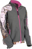 Yukon Gear Women's Windproof Softshell Jacket with Pink Camo