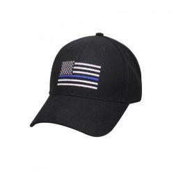 Adult Thin Blue Line Embroidered Flag Ball Cap