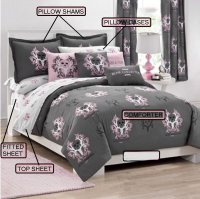 Bone Collector Gray & Pink Bed-in-a-bag Bed Set