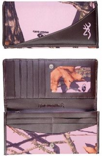 Browning Pink Camo Continental Wallet