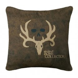 "Bone Collector Brown & Tan Square Pillow - 20"" W X 20"" L"