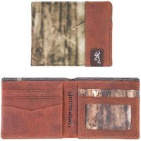 Browning Camo & Leather Bi-Fold Wallet
