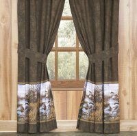 Blue Ridge Trading Duck Approach Scene 84 Inch Panel Drapes Set