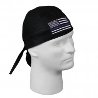 Thin Blue Line U.S. Flag Head Wrap