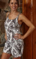 Women's Naked North Snow Camo Lounge Tank Top & Shorts Set
