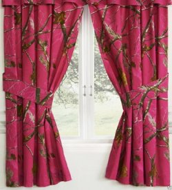 Realtree AP Camo Fuchsia (Hot Pink) Rod Pocket Drapes