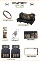 Licensed Realtree Outfitters Bench Seat Camo Auto & Truck Access