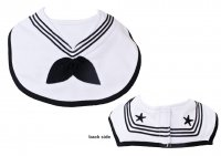 Infant US Navy Sailor Bib Classic Gob Baby Bib