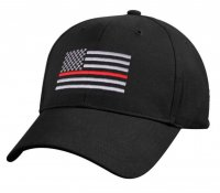Adult Thin Red Line Embroidered Flag Ball Cap