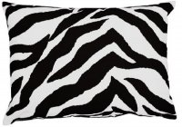 Black Zebra Stripe Oblong Pillow