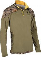 Yukon Gear Fleece 1/4 Zip Pullover Mossy Oak Breakup Country