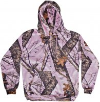 Yukon Gear Women's Pink Camo Performance Fleece Hoodie