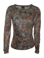 Mossy Oak Camo Ladies Long Sleeve Burnout Shirt 605721
