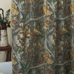 Realtree Timber Camouflage Shower Curtain