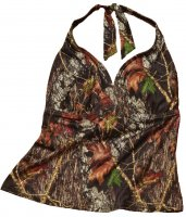 Wilderness Mossy Oak Breakup Camo Halterkini Swim Top 607321