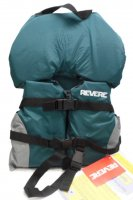 Child WavePro Life Vest With Flotation Collar Head Float Green &