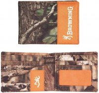 Browning Men's Camo & Blaze Orange Bi-Fold Field Wallet