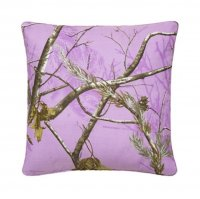 "Realtree AP Lavender Camo Square Pillow 18"" x 18"""
