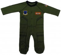 "Baby Aviator Flight Suit ""Future Pilot"" Sleeper"