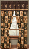 "Licensed Browning Country Set of Curtains 84"" x 84"" with Valance"