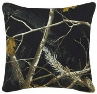 Realtree AP Camo Reversible Black and White Square Pillow