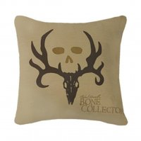 "Bone Collector Tan & Brown Square Pillow - 20"" W X 20"" L"