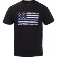 Kids Tee Shirt with U.S. Flag and Thin Blue Line