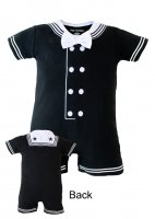Infant Baby Little Navy Sailor Black Creeper