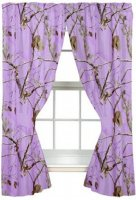 "Realtree AP Lavender Camo Lined 63"" Drapes"