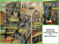Mossy Oak New Breakup Camo 7 Piece Baby Crib Set