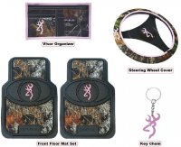 Pink Browning Buckmark Auto & Truck Accessory Set 5 Pc
