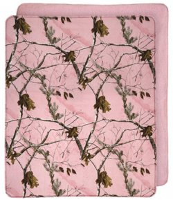 "Realtree AP Pink Camo Plush Throw Blanket 50"" W X 60"" L"
