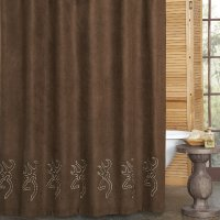 "Browning Buckmark Suede Shower Curtain 72"" x 72"""