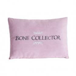 Bone Collector Pink & Grey Oblong Pillow - Reversible