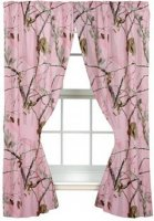 "Realtree AP Pink Camo Lined 63"" Drapes"