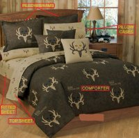 Bone Collector Brown Bed-in-a-bag Bed Set