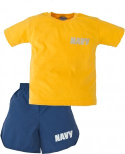 Kids US Navy PT Shorts and Tee Shirt Set