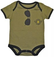 """Daddy's Wingman"" Aviator Glasses Baby Flight Bodysuit"