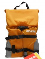 Infant WavePro Life Vest With Flotation Collar Orange & Gray